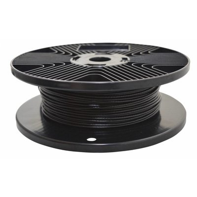 Wire Ropes black PVC 1.7/2.5mm 100 meter