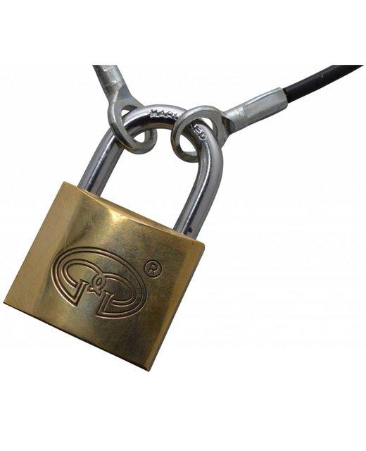 Veiligheidskabels zwart 50cm met ogen