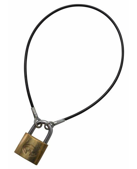 Veiligheidskabels zwart 1 meter met ogen