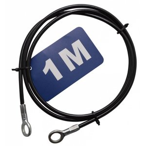 Stanford Safetycable 1m with loops black