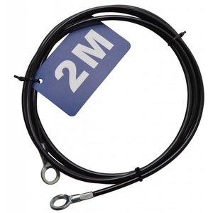 Stanford Safetycable 2 m with loops black
