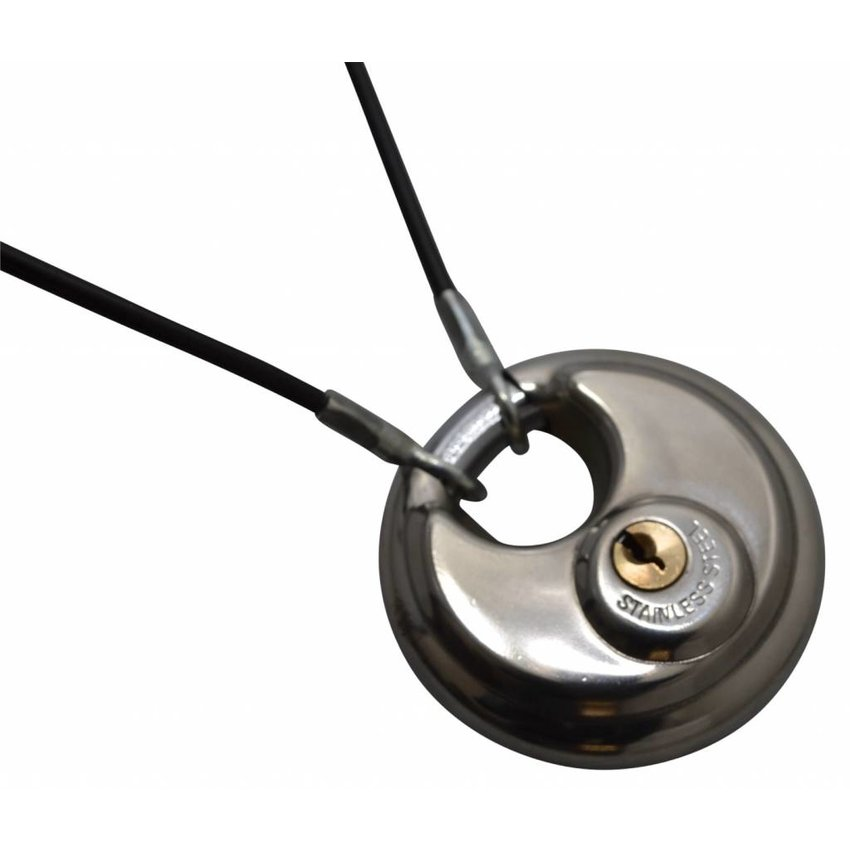 Veiligheidskabels zwart 3 meter met ogen