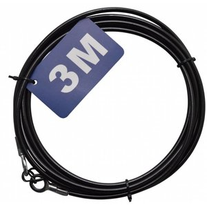 Stanford Safetycable 3m with loops black