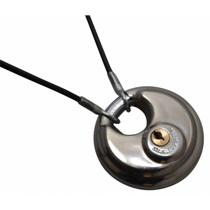 Veiligheidskabels zwart 10 meter met ogen