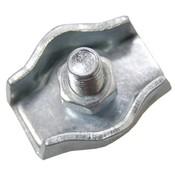 Staaldraadklem verzinkt 6mm simplex
