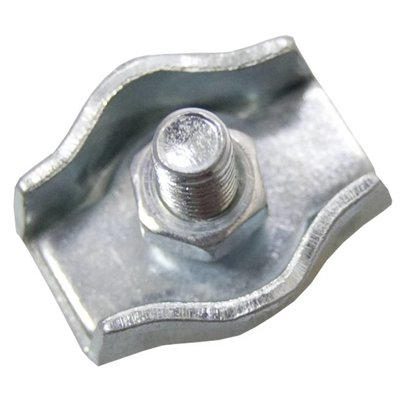 Stahldrahtklem verzinkt 6mm simplex