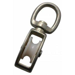 Blockseilrolle 25mm mit Wirbel