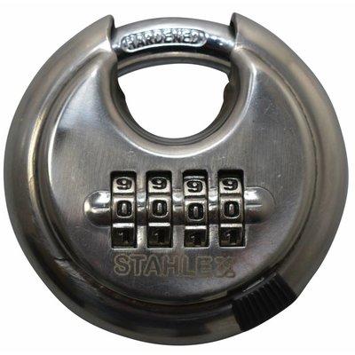 Stahlex Vorhänge-Rundschlossen 70mm met cijfercombinatie