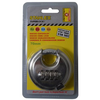 Stahlex Disc lock 70mm with numbercombination