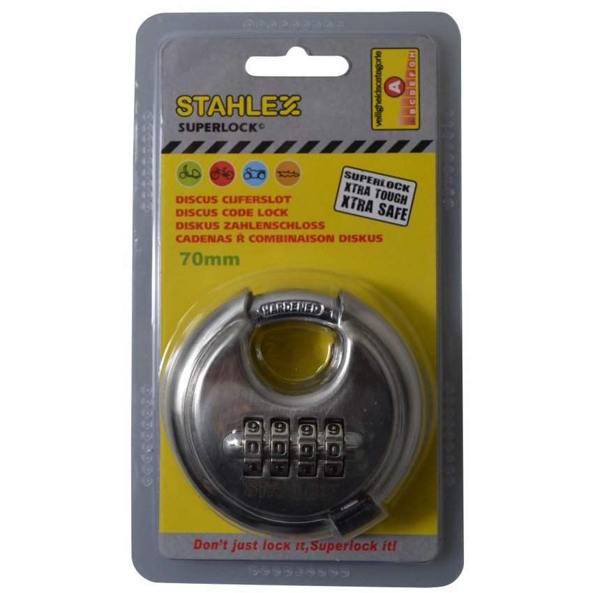 Disc lock 70mm with numbercombination