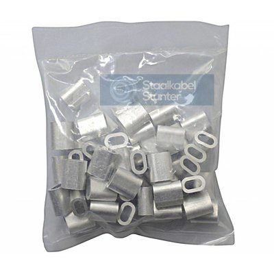 Wire rope clips 3mm Discount pack 50 pieces