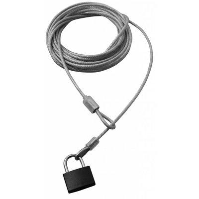 Security Kabel 5 meter met hangslot x 4mm dikte