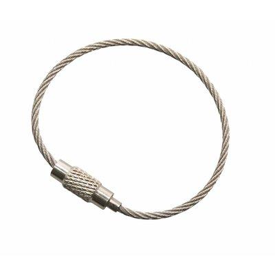 Edelstahl Niro rostfrei Stahldraht 110 mm Stahldraht Schlüsselringe