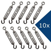 stainless Turnbuckle M6 Action 10 pieces