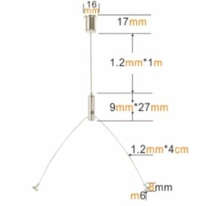 Ophangsysteem 2 - lamp ophangset