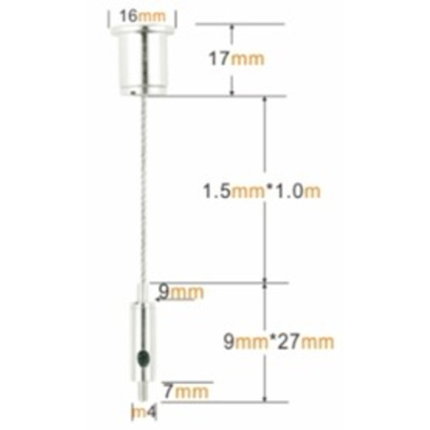 Suspension kit Wire Rope 8