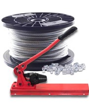 Staalkabel 4 mm 100 meter Voordeelpakket