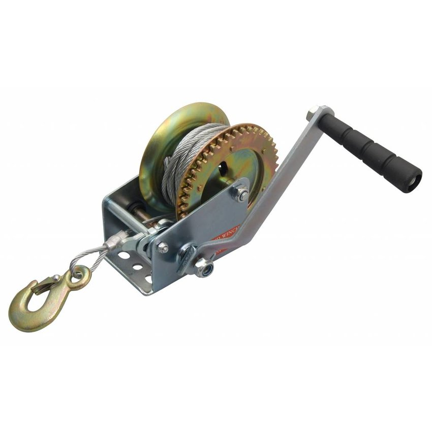 Hand winchen with 10 meter Wire Rope and hook