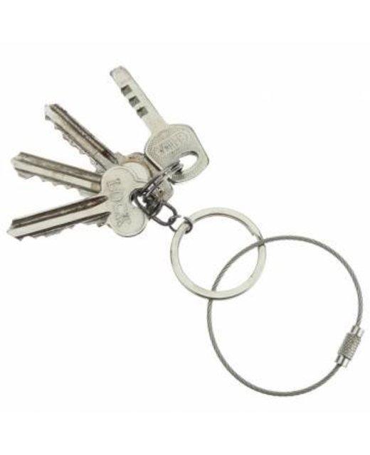 Staaldraad 150 mm 'armband' Staaldraad sleutelring blauw