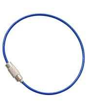 Steelwire 150 mm 'bracelet' steel wire key ring Blue