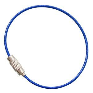 Stahldraht 150 mm Drahtseil mit Drehverschluß Blau