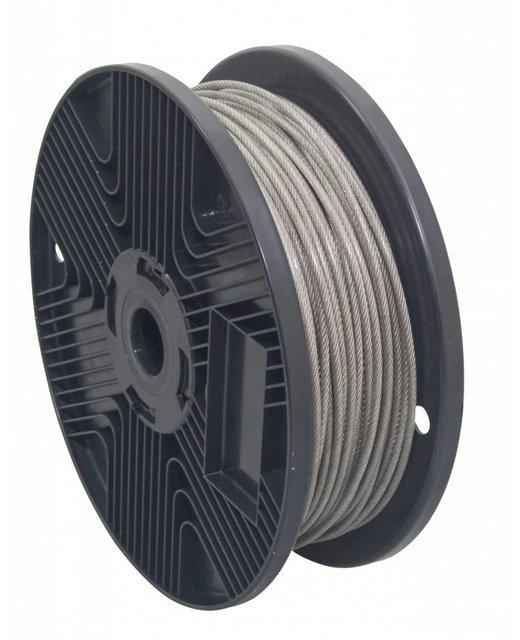 roestvaststaal Staalkabels 3/4 mm geplastificeerd 100 meter