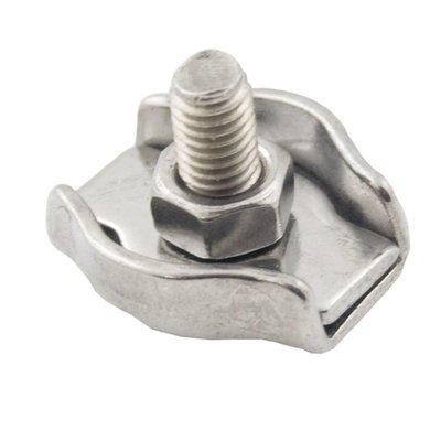 Stahldrahtklem Edelstahl Niro rostfrei 6 mm Edelstahl Niro rostfrei