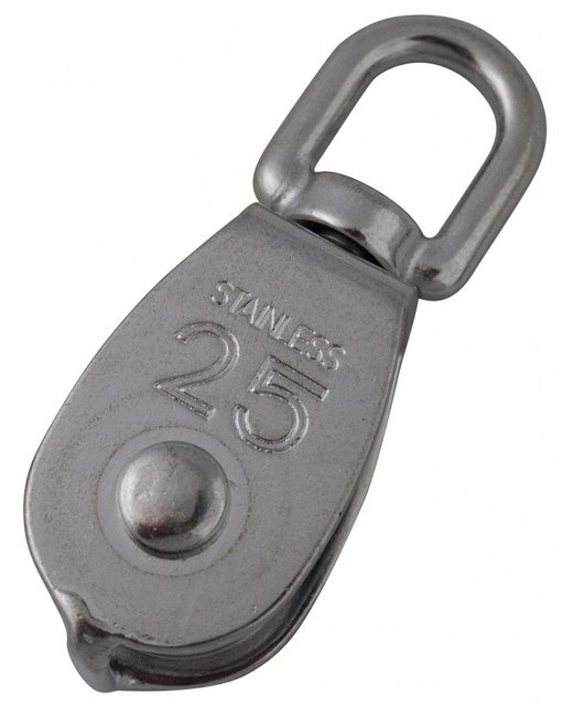 Rvs Katrollen 25mm