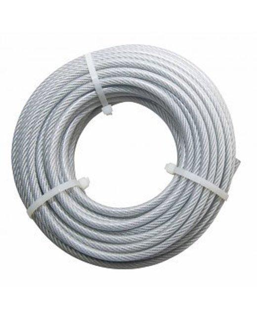 Staalkabels 5/6 mm geplastificeerd 20 meter