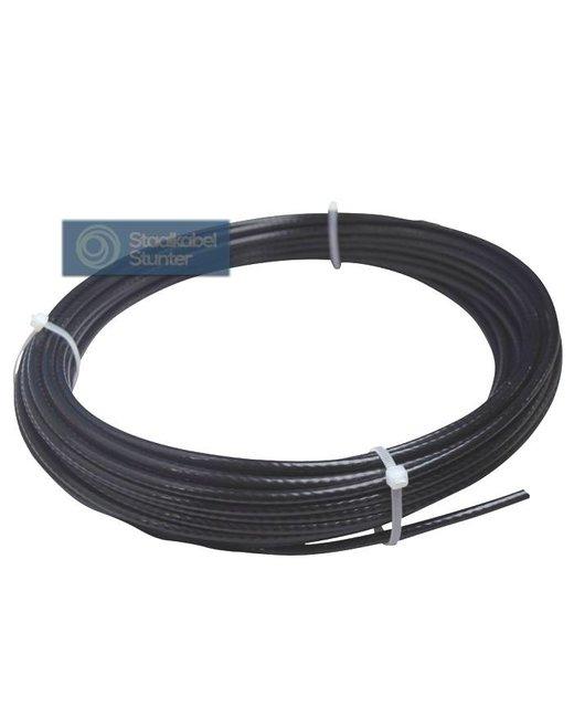 Fitness Staalkabel 5,5mm 20 meter zwart