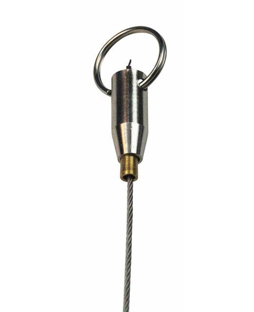 Drahtseilhalter Gripper mit Schlüsselringe