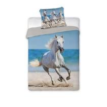Paarden Dekbedovertrek Wit Paard