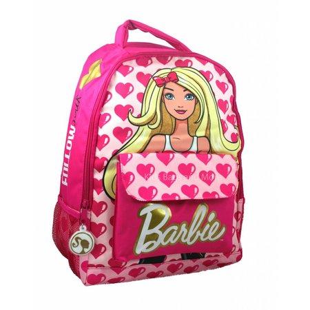 Barbie Schooltas Roze met Hartjes