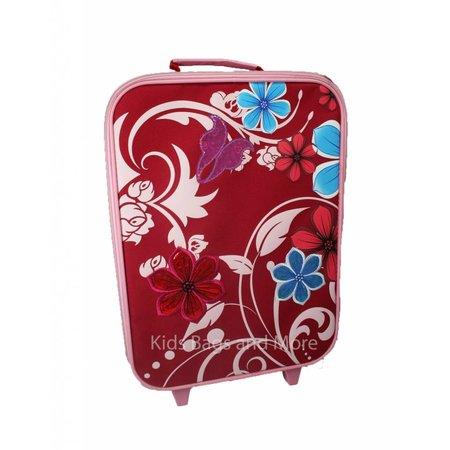 Bloemen Kinderkoffer Rood