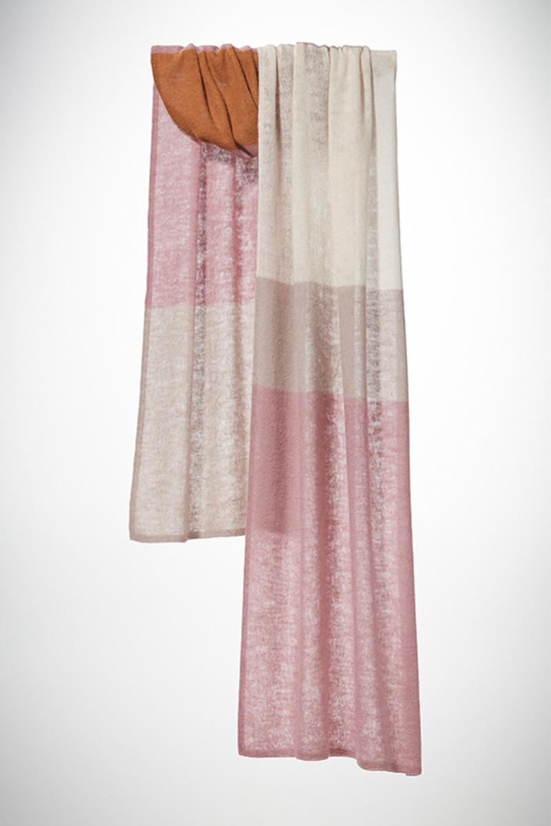 Block Stripe Dusty Pink