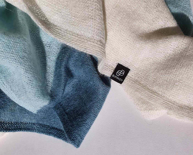 KNITTED - Block Stripe Daydream Blue