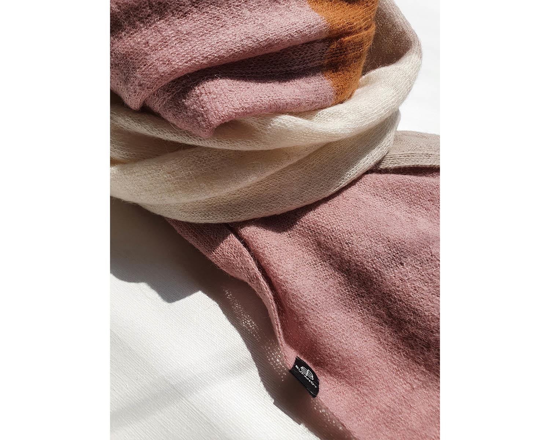 KNITTED - Block Stripe Dusty Pink