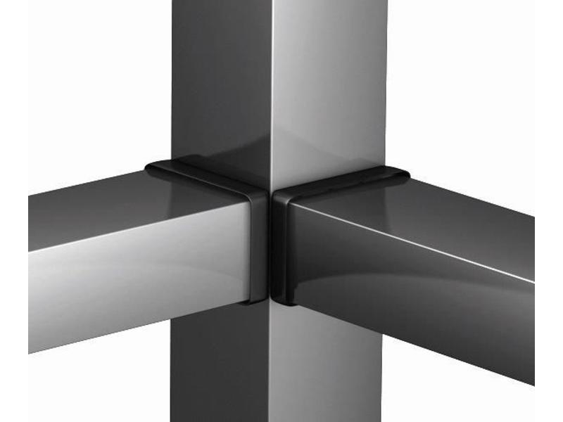 Hekwerkdirect Hoekverbinding blind 50x30 (set á 2x2 stuks)