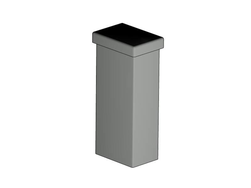 Koker 60 x 40 mm Gecoat Staal Staander