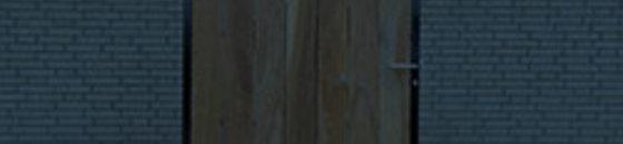 Tuinpoort met houtvulling