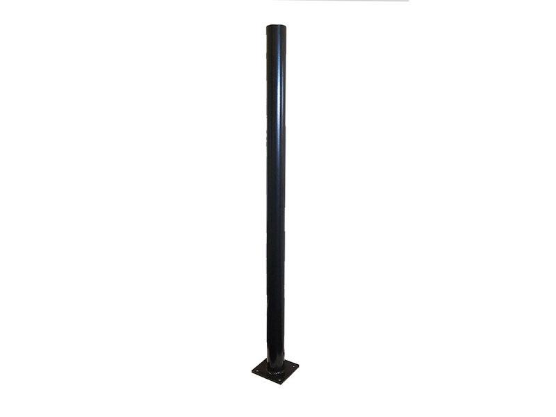 Hekwerkdirect Paal 60 mm gecoat op voetplaat