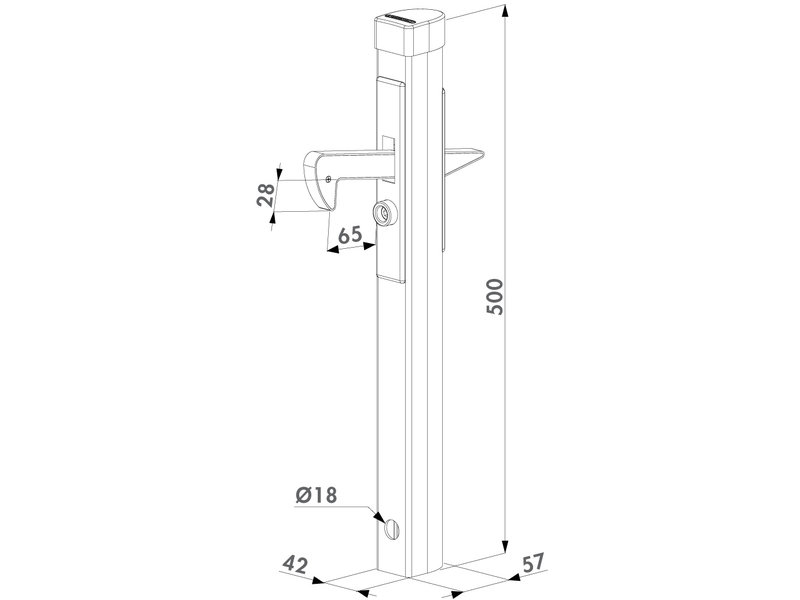 Locinox Aluminium poortvanger | IGC Locinox