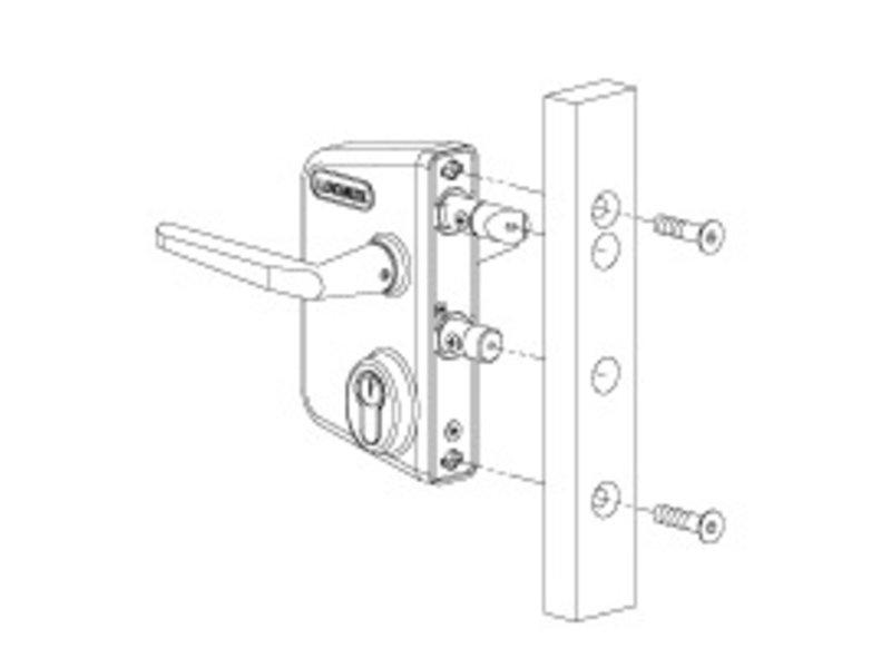 Locinox LAKQ U2 | Industrieel slot - plat profiel