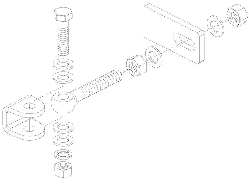 Locinox 3-DIMENSIONEEL REGELBAAR 180° SCHARNIER