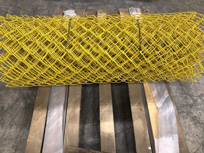 Harmonicagaas 10 meter op rol Geel 1m hoog