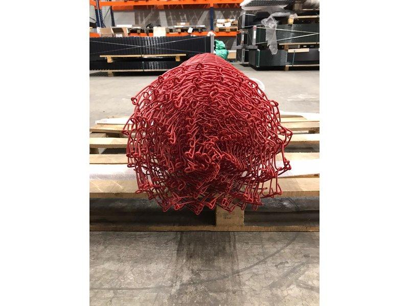 Harmonicagaas 10 meter op rol Rood 1m hoog