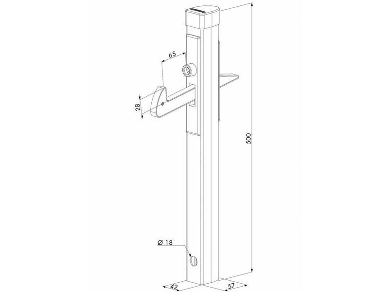 Locinox IGC | Aluminium poortvanger