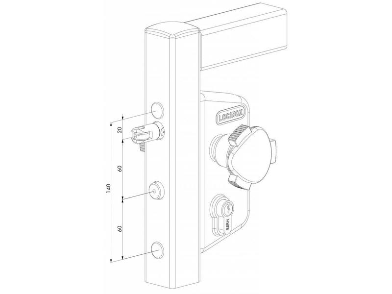 Locinox LAKZ P1 WSI | Zwembadslot - 40 mm kokerprofiel