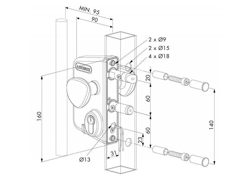 Locinox LEKQ U4 | Elektrisch slot - kokerprofiel