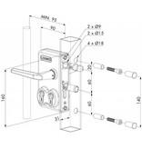 Locinox LDKZ D1 | Dubbel cilinderslot - kokerprofiel